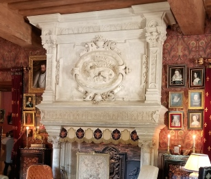 Fireplace in d'Azay-le-Rideau