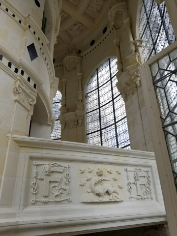 Grand staircase in Chambord
